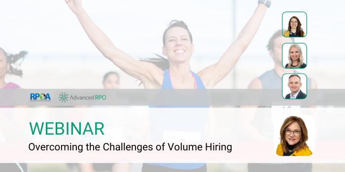 Overcoming the challenges of volume hiring hero image